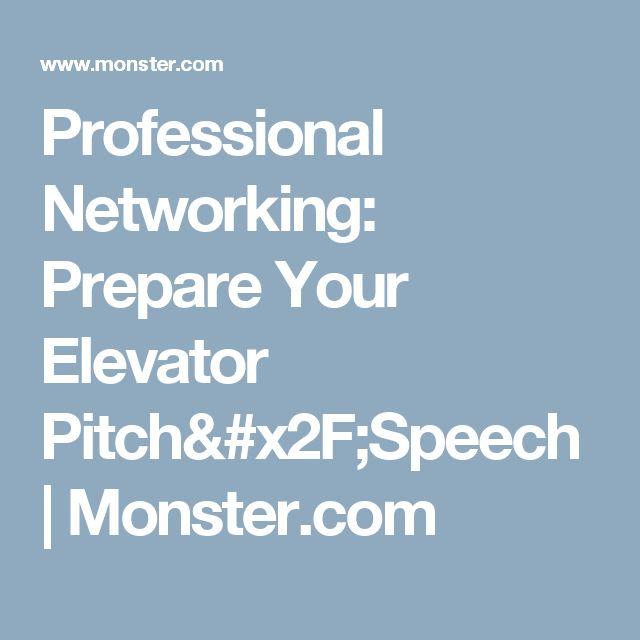 37 best Interview Questions \ Tips images on Pinterest - elevator speech examples