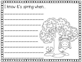 Spring Writing Prompts (K-2) - 27 prompts to welcome the warmer weather! Use at a writing center, for morning work, early finishers, or emergency sub plans. Hang for a fun bulletin board. Great for teaching expository, narrative, and poetry writing.