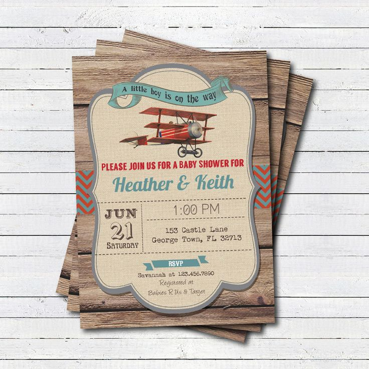 Rustic airplane baby shower invitation. Gender neutral retro, vintage couple baby shower, co-ed baby shower, coed shower digital invite B143 by CrazyLime on Etsy