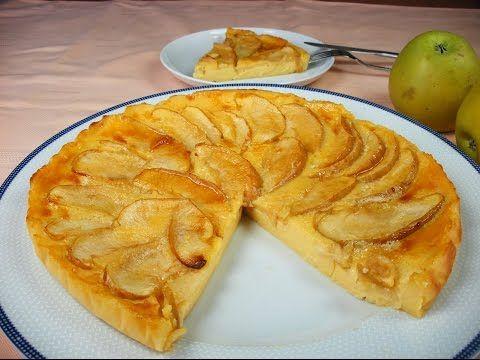Tarta de queso con manzana - YouTube