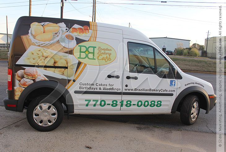 transit connect graphics | Company: Ford Transit Connect Wrap - Brazilian Bakery Cafe