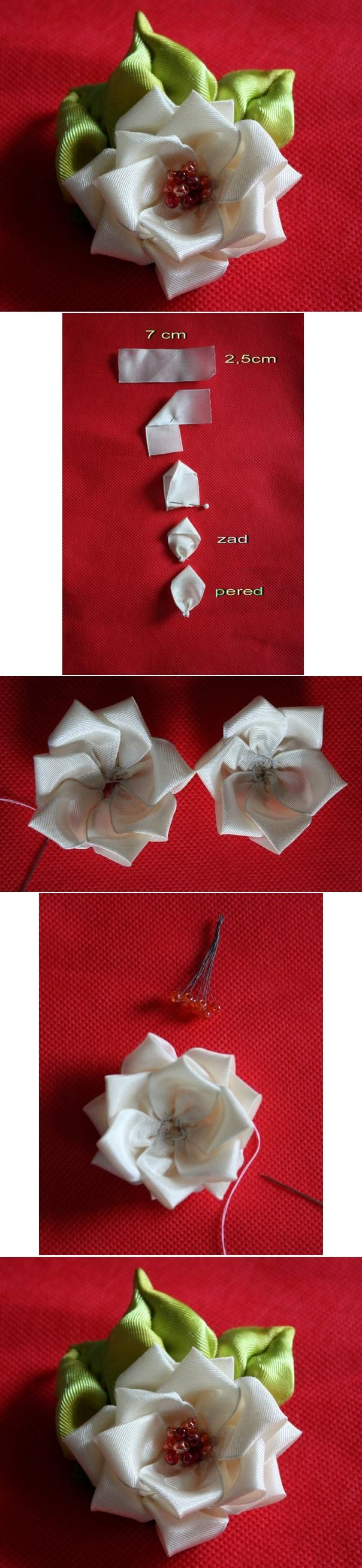 DIY Simple Flower Brooch