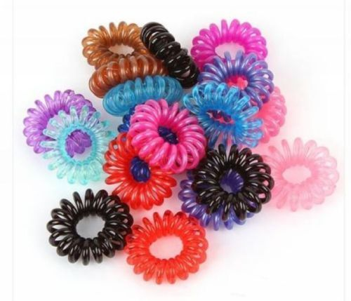 Plastic Mixed Spiral Slinky Hair Head Bands Elastics Ties Scrunchies  Accessories 90397454be4