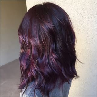 plum purple highlights hair - Google Search