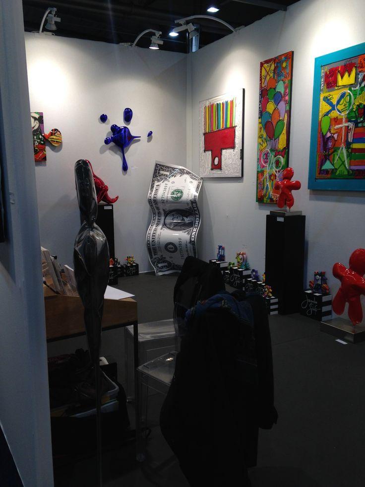 la @ColorfieldGal est installée et prête à vous accueillir nombreux au Art3f #Mulhouse