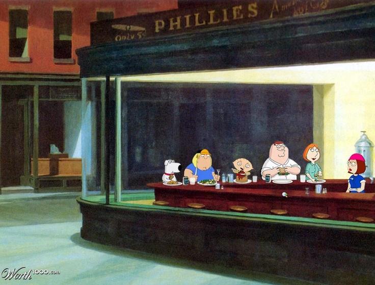 17 best images about artwork nighthawk on pinterest for Diner artwork