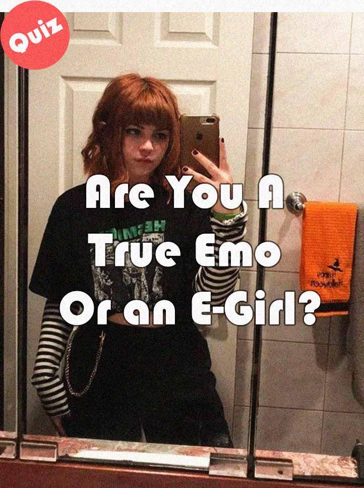 E Girl Test : E-Girl?, Humor,, Purple, Aesthetic