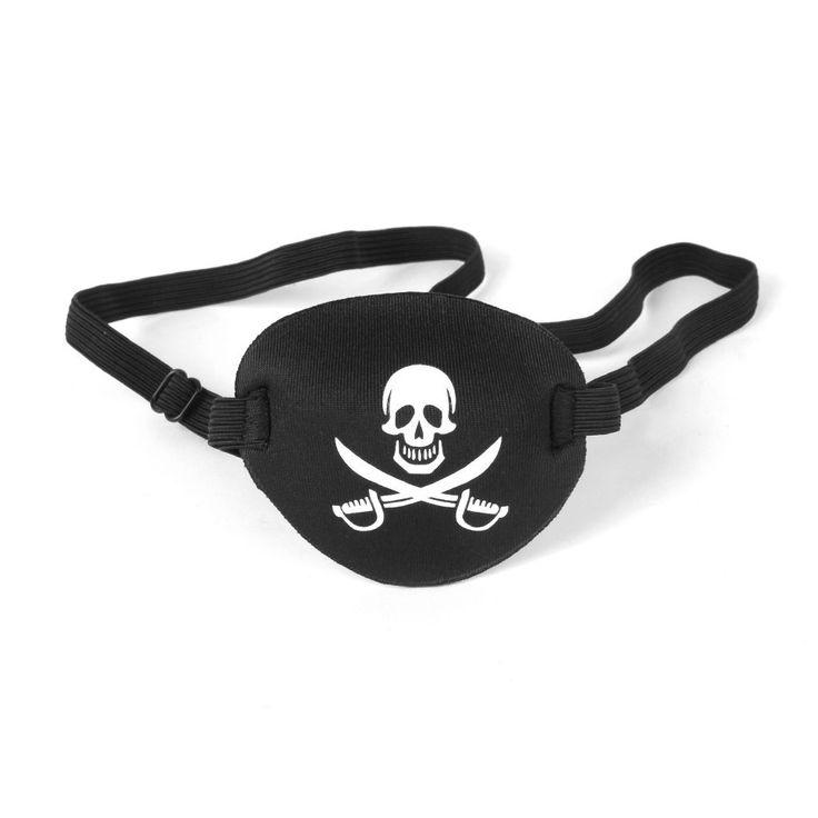 Niño Niños Pirata Crossbone Cráneo Visera Parche En El Ojo Máscara De Ojo Por Ojo Perezoso: Amazon.es: Juguetes y juegos