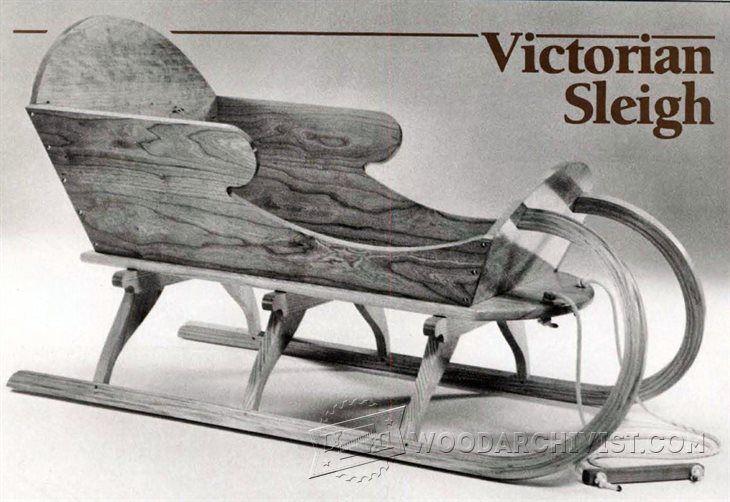 Vivtorian Wooden Sled Plan - Children's Plans and Projects   WoodArchivist.com