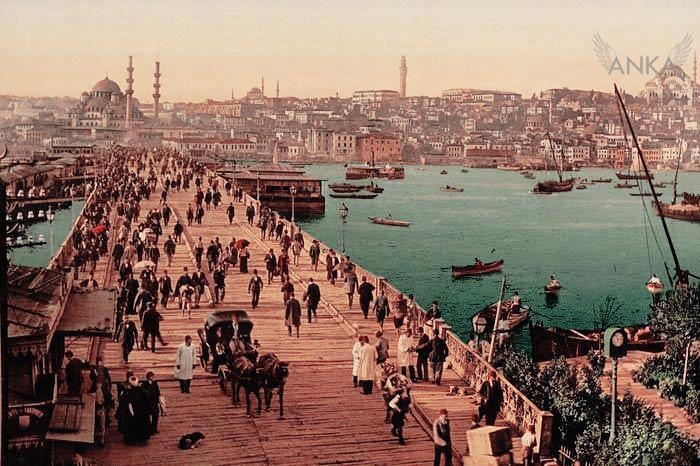coloured old photo of Istanbul,1910