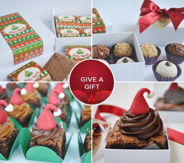 Doces de Natal - Brownies e brigadeiros da Give a Gift Gourmet