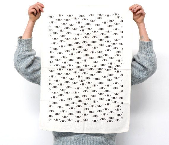 JESSE EYESENBERG  Original Min Pin tea towel design.  Printed in Melbourne by The Club of Odd Volumes onto 100% cotton kitchen towel.  Comes neatly
