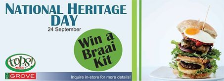 CONGRATULATIONS to MR M BERGH who won a Weber Braai and Braai Kit from Tops The Grove on National Heritage Day!