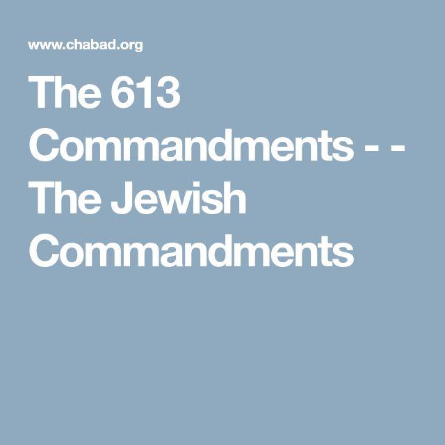 The 613 Commandments -  - The Jewish Commandments