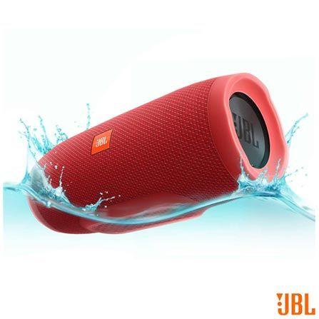 Caixa Acústica Bluetooth JBL à Prova d'Água Vermelho - CHARGE 3, Vermelho, Caixas Portáteis, Sim, 20 W, Sim, Não, iOS e Android, 12 meses