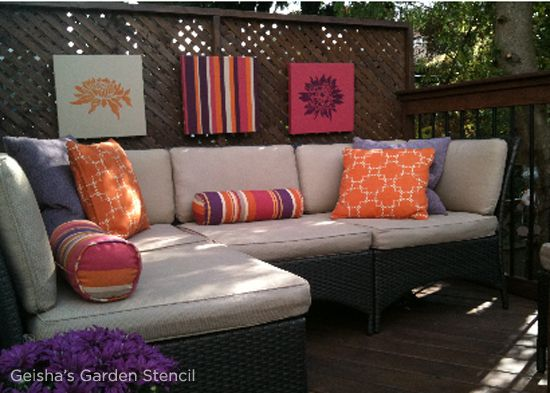 Four Simple Stencil Projects To Get Your Deck BBQ Ready