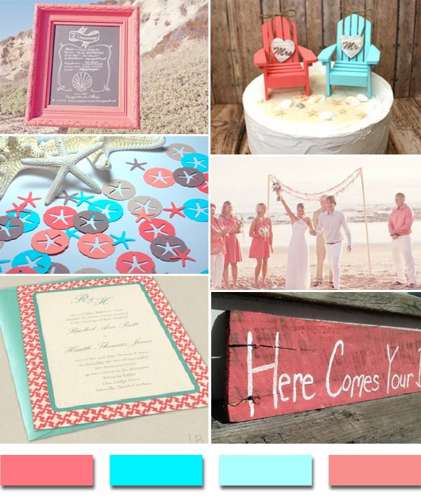 Popular Summer/Beach Wedding Color Palettes 2014 trends |