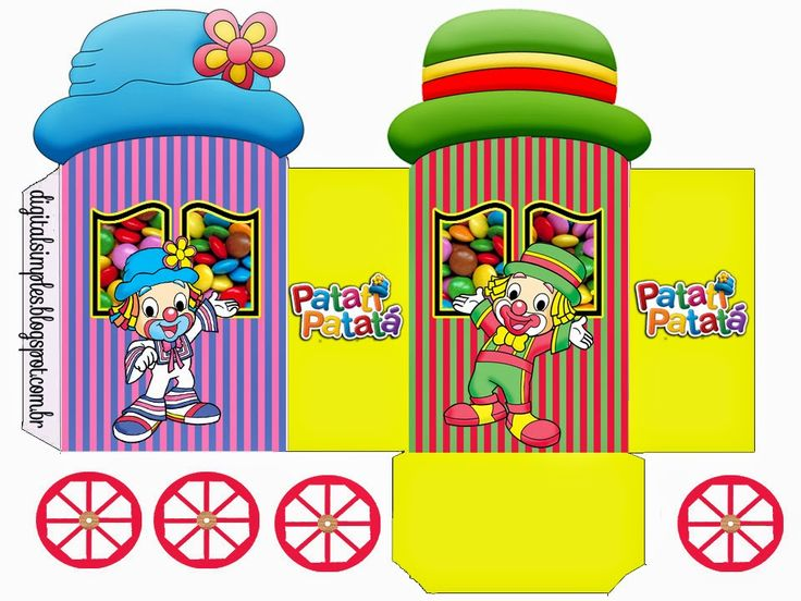 Funny Clowns: Princess Carriage Shaped Free Printable Boxes.