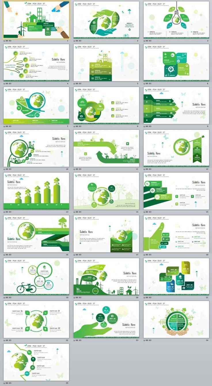 25+ Green chart slides PowerPoint Templates #FinanceTemplate