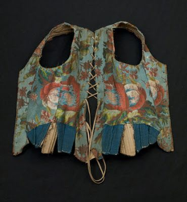 Isis' Wardrobe: Stays with tie-on sleeves Stays, 1735-50