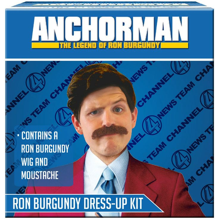 Anchorman Ron Burgundy Dress Up Kit - Only £14!!