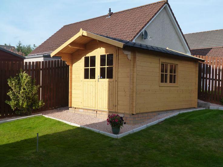 Lulea Log Cabin 3x4m Door fittings, Roof panels, Metal