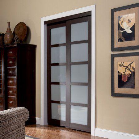 Free Shipping. Buy Euro Closet and Room Divider Door Espresso 5 Lite Sliding Closet Door at Walmart.com