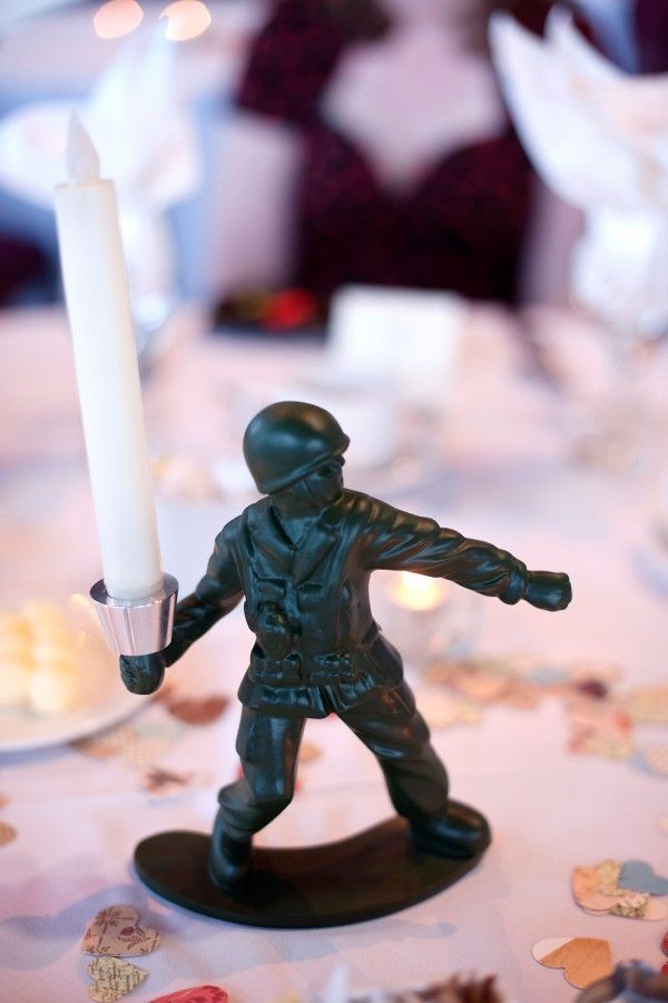 Table decor for a wedding at the Canadian War Museum in Ottawa