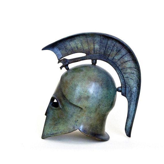 Metal Helmet with Griffin Crest Ancient Greek by GreekMythos