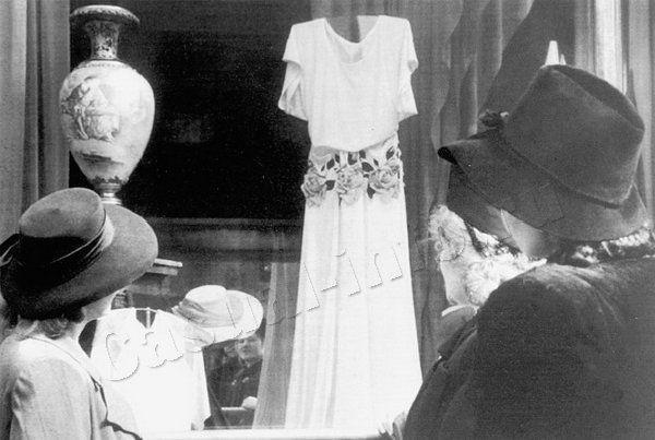 The window of female fashion shop, 1949
