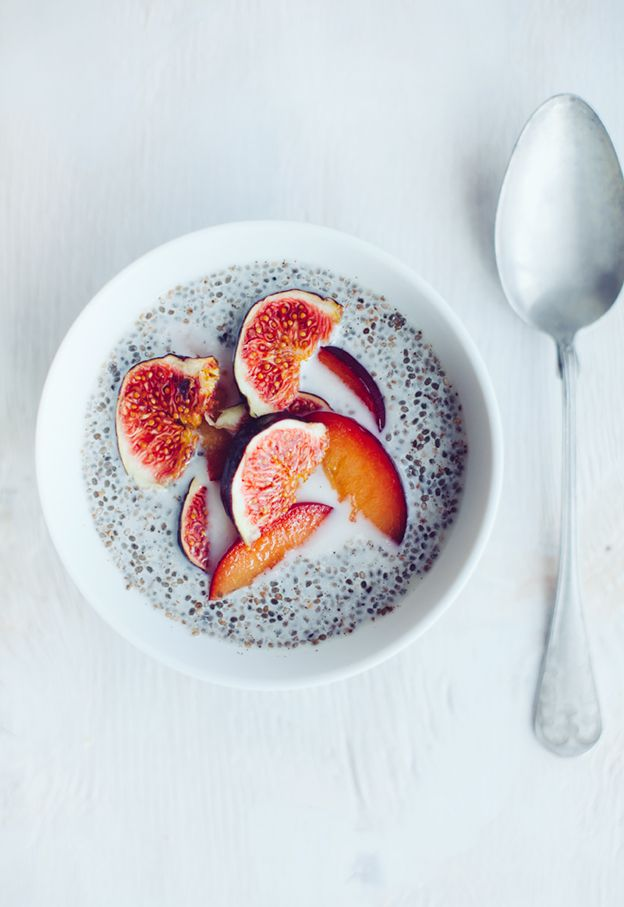 Chia Pudding with Plums and Figs: Healthy Breakfast