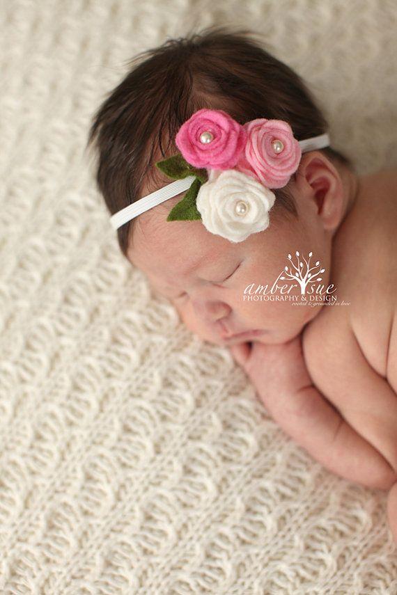 Hair Accessories  Baby Headbands  Flower by PinsandNeedles0, $7.16