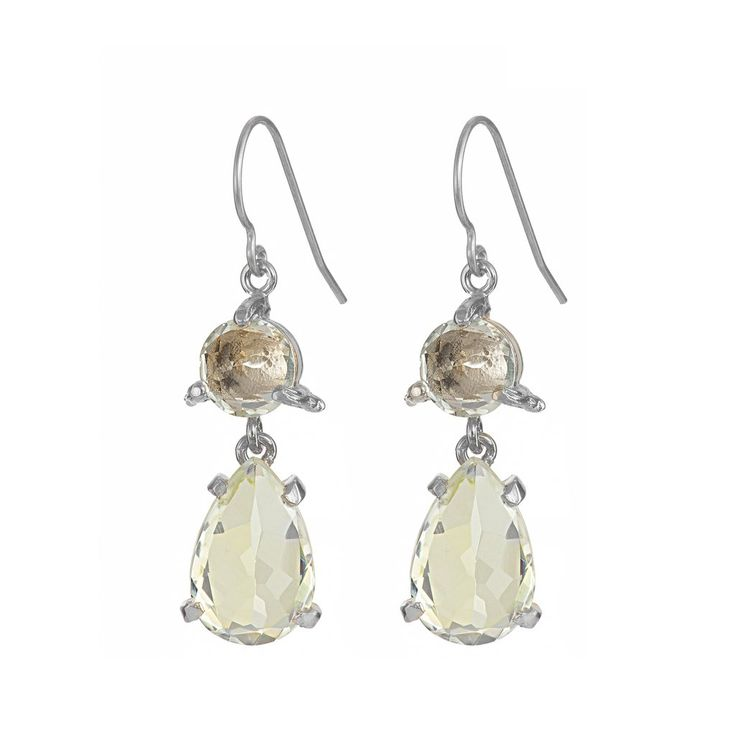 In The Wild Earrings Prasiolite in Silver