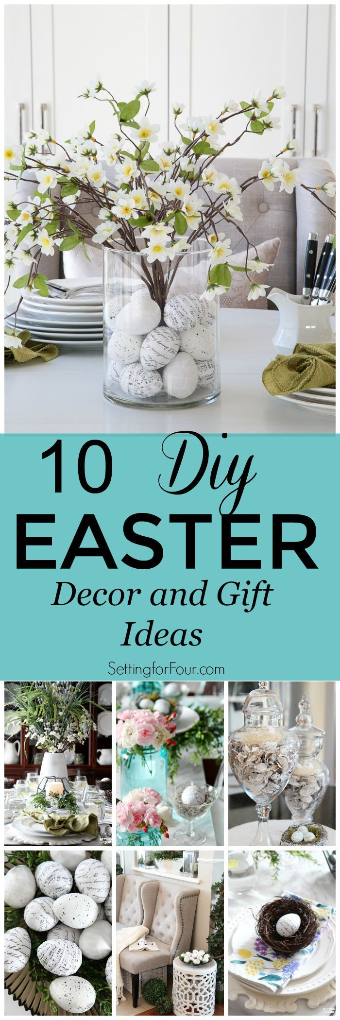 10 DIY Easter Decor and Gift Ideas
