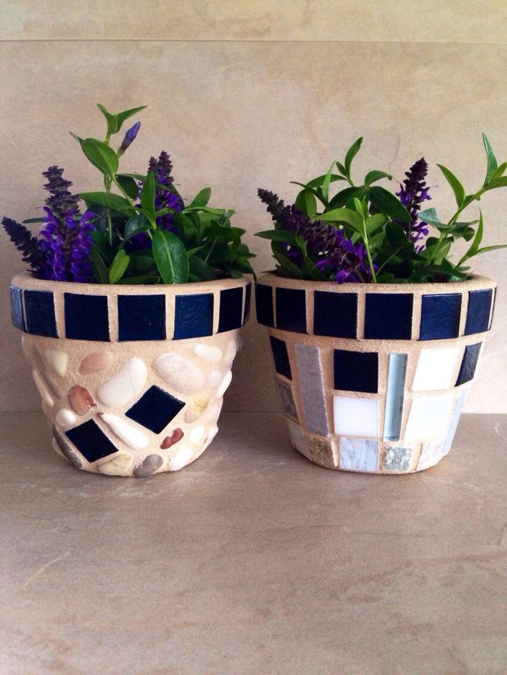 A personal favorite from my Etsy shop https://www.etsy.com/listing/291784781/mosaic-flower-pot-set-small-rustic