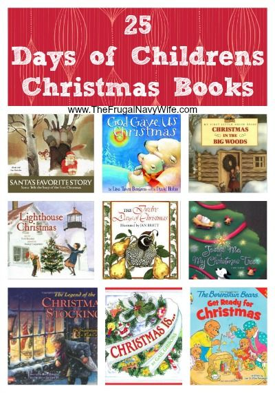 25 Days of Childrens Christmas Books - The Frugal Navy Wife