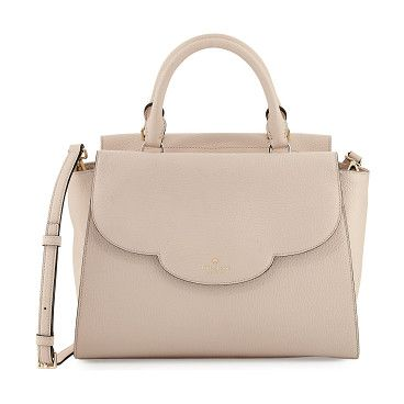 "leewood place makayla leather tote bag by Kate Spade New York. kate spade new york pebbled leather tote bag. Available in multiple colors. Rolled top handles, 4"" drop. Removable, a..."