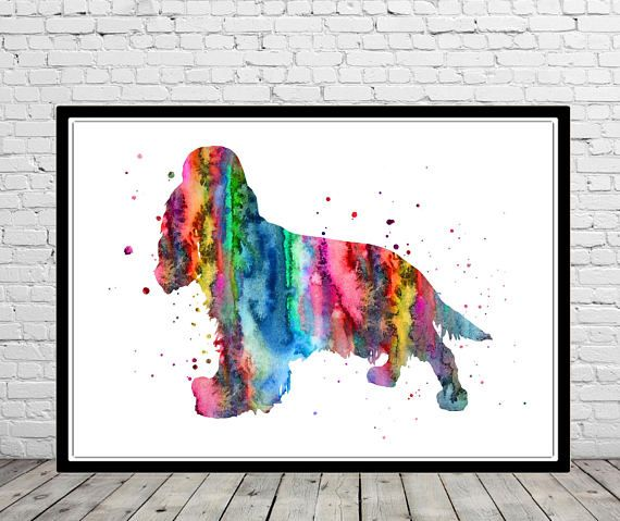 English Cocker Spaniel Watercolor Cocker Spaniel Cocker Spaniel