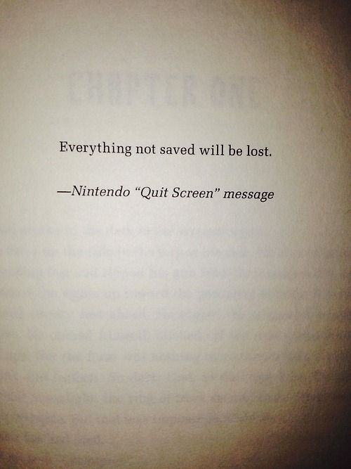 Epigraph from THE END GAMES by T. Michael Martin