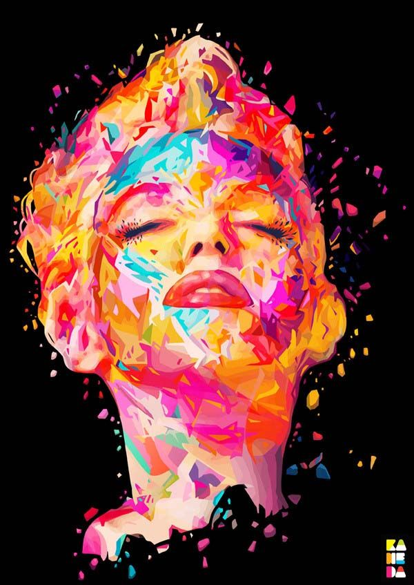 by Alessandro Pautasso | http://nosurprises.it/Marilyn Monroe, Colors, Alessandro Pautasso, Digital Art, Marilynmonroe, Graphics, Oil Painting, Art Pictures, Art Illustration