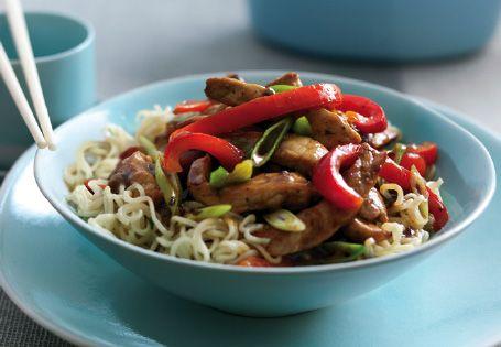 Stir Fried Pork with Blackbean Sauce and Noodles #ChineseNewYear