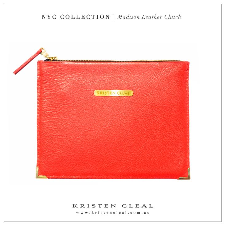 Madison Leather Clutch by Kristen Cleal Designs  Shop our online store at www.kristencleal.com.au