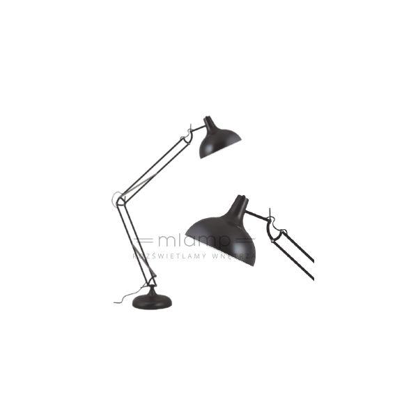 Stojąca LAMPA podłogowa ADELAIDA 1201104 Spotlight metalowa OPRAWA regulowana loft czarna