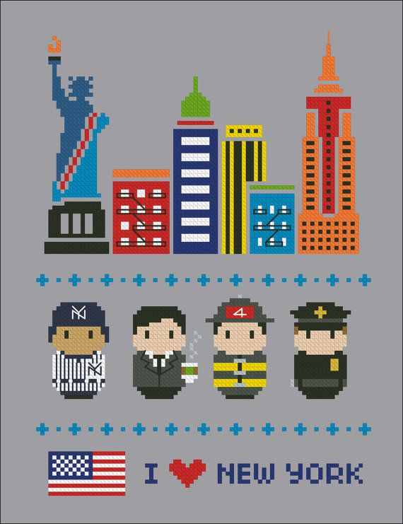 New York icons Mini people around the world PDF by cloudsfactory