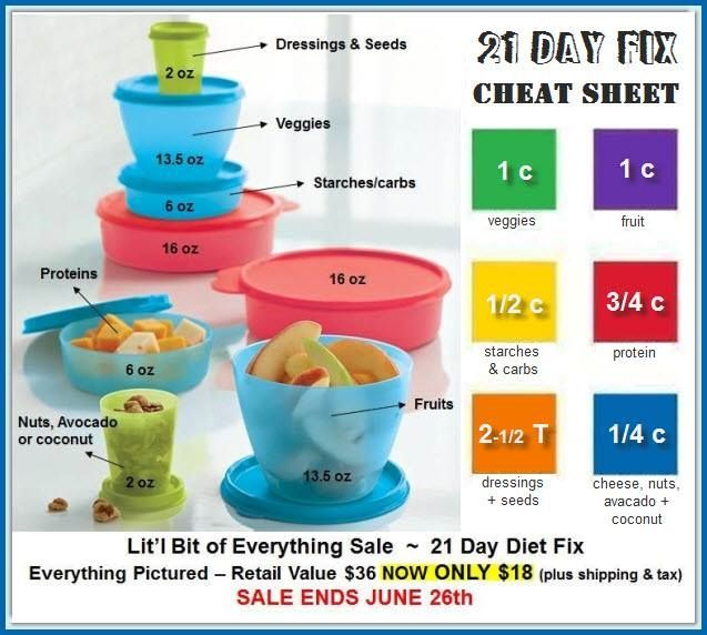 Get on your 21 day fix - Tupperware style!!