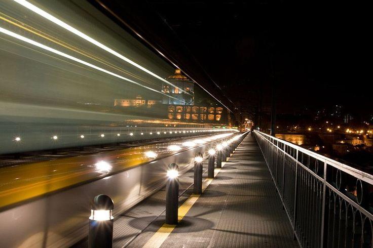Metro do Porto na Ponte Luis