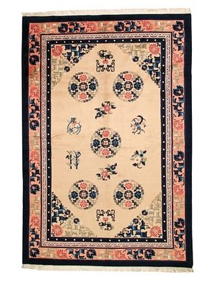-29,900% OFF Roubini Chinese Antique Finish Rug, Peach/Navy, 6' x 9'