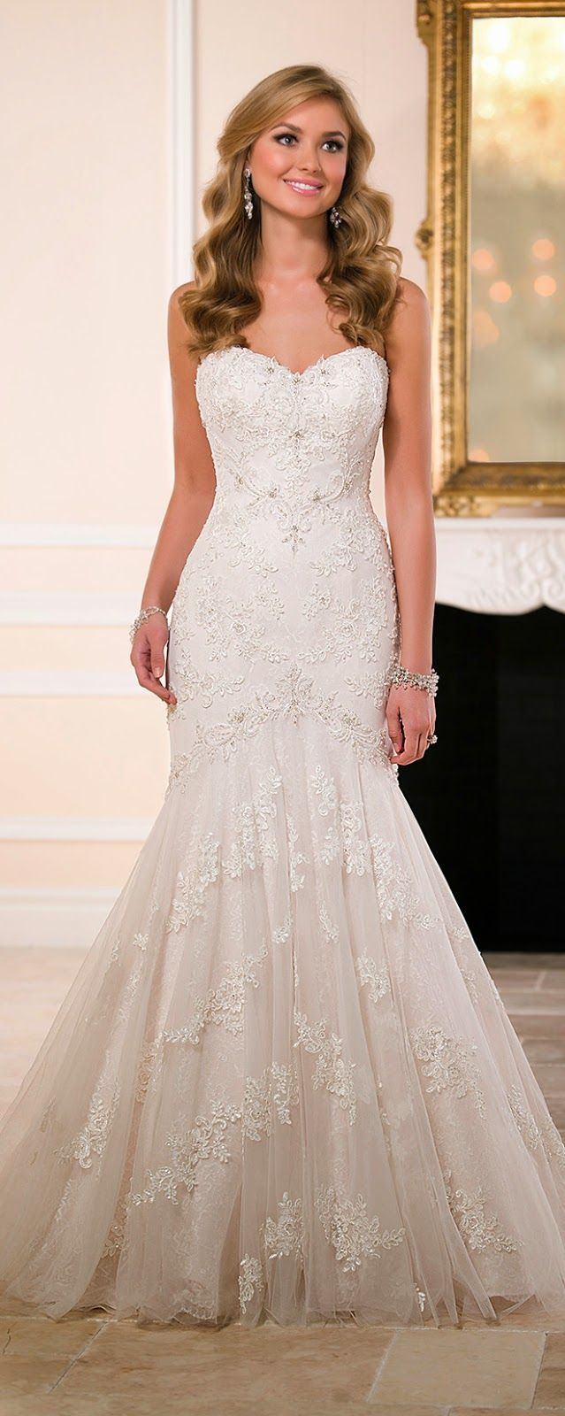 Trumpet style wedding dresses   best Future wedding images on Pinterest  Wedding inspiration