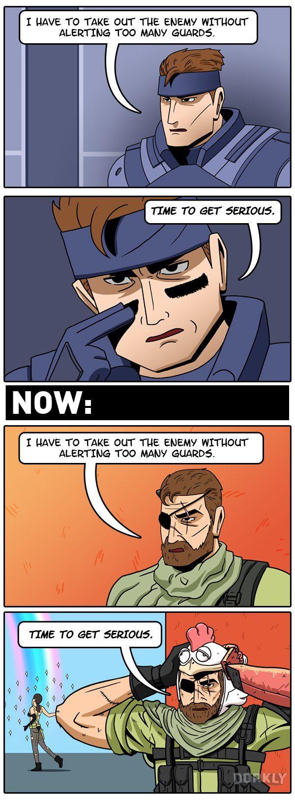 The Evolution of Metal Gear Solid Games #dorkly #comics #videogames