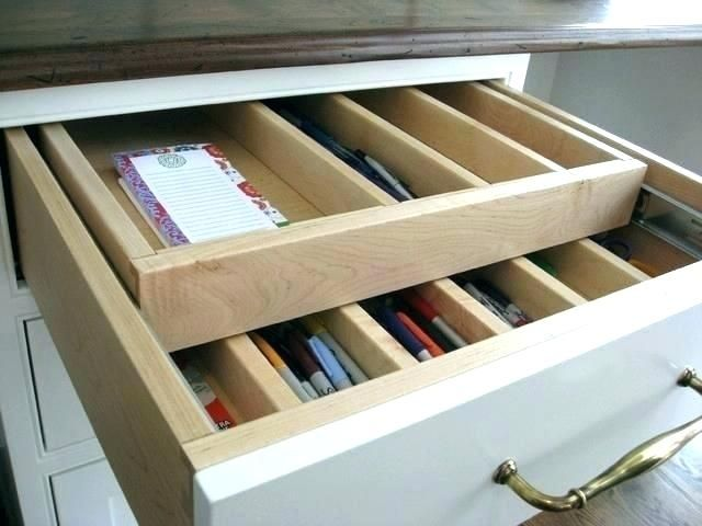 Deep Desk Drawer Organizer Deep Drawer Organizer Deep Kitchen Drawer Organizer For Deep Kitc Deep Drawer Organization Desk Drawer Organisation Organize Drawers